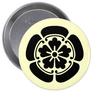 Oda, Japón Pin Redondo De 4 Pulgadas