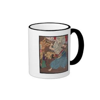 Oda Nobunaga fighting Samurai c.1800s Japanese Art Coffee Mug