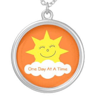 ODAAT Happy Cartoon Sun Customizable Orange Pendants