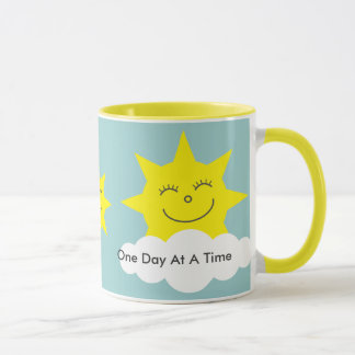 ODAAT Happy suns yellow ringer mug