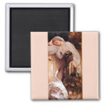 Odalisque 1862 By Lord Leighton 2 Inch Square Magnet