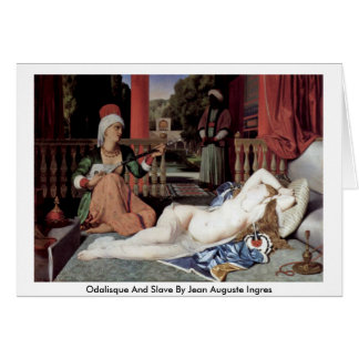 Odalisque And Slave By Jean Auguste Ingres Greeting Cards