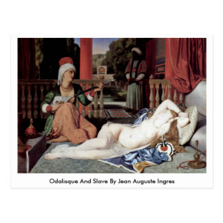 Odalisque And Slave By Jean Auguste Ingres Post Cards