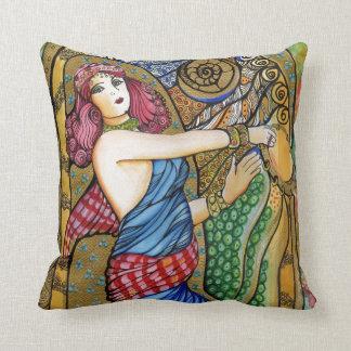 Odalisque Dance Girl Portrait Throw Pillow