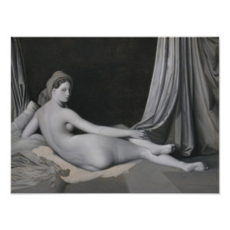 Odalisque in Grisaille Poster