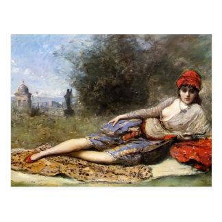 Odalisque siciliano de Camilo Corot- Tarjetas Postales