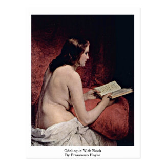 Odalisque With Book By Francesco Hayez Postcard