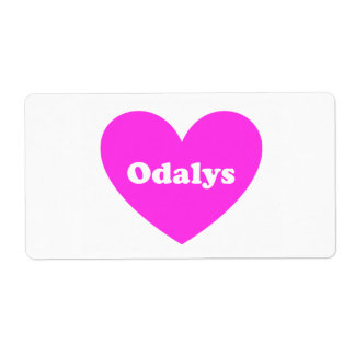 Odalys Shipping Label
