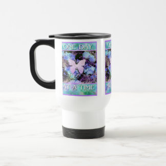 ODAT Butterfly Flowers 15 Oz Stainless Steel Travel Mug