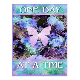 ODAT Butterfly Flowers Postcard
