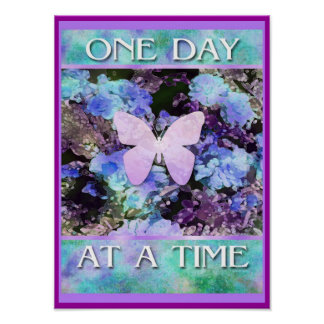 ODAT Butterfly Flowers Poster