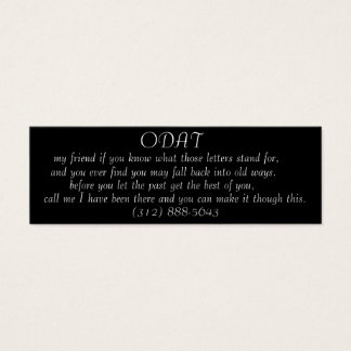 ODAT (call me friend) profile card