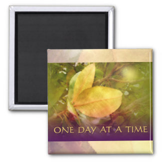 ODAT Magnolia Leaves 2 Inch Square Magnet