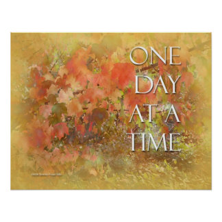ODAT Orange Leaves Poster