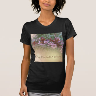 ODAT Plum Blossoms on Green T-shirt