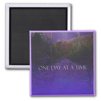 ODAT Purple Mountain Road 2 Inch Square Magnet