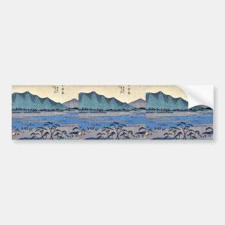 Odawara by Ando, Hiroshige Ukiyoe Bumper Sticker