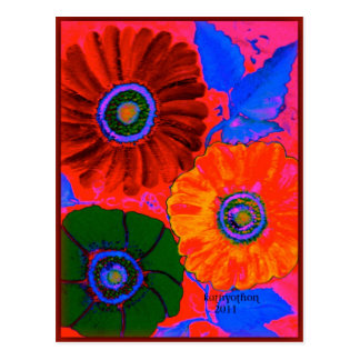 odd-2.jpgAbstract floral in red Postcard