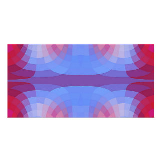 Odd Abstract in Blue and Pink Customized Photo Card