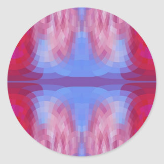 Odd Abstract in Blue and Pink Round Stickers