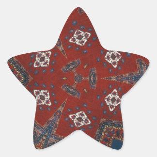 Odd Art Ornamental Design Star Sticker