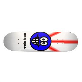 odd ball smiley skateboard deck