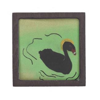 Odd Black Swan Painting Gift Box