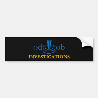 Odd Bob Investigations Logo Accessories Bumper Sticker
