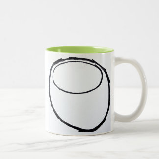 """""""Odd Bowl"""" Two-Tone Coffee Mug"""