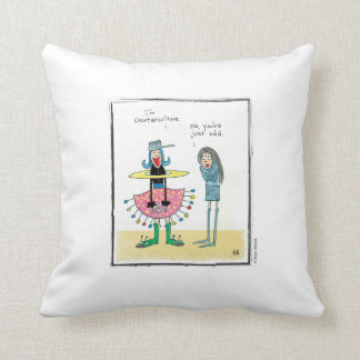 ODD cartoon by Ellen Elliott Throw Pillow