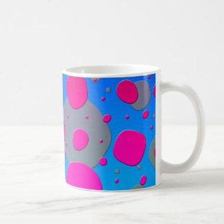 Odd Circles Modern Art Design Pink Blue Coffee Mug
