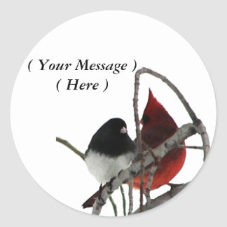 Odd Couple - Birds in the Bush Classic Round Sticker