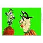 Odd Couple Friends Greeting Card