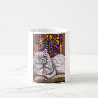 ODD EYED PERSIAN Church Cat Mug