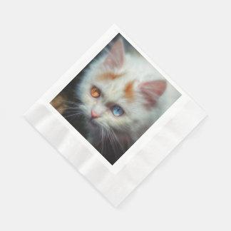 Odd-Eyed Persian Kitten Paper Napkin