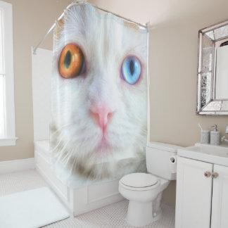 Odd-Eyed White Persian Cat Shower Curtain