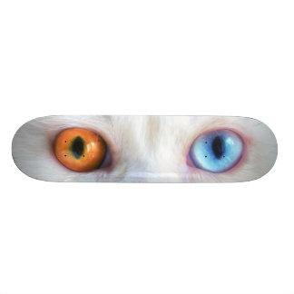 Odd-Eyed White Persian Cat Skateboard