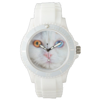 Odd-Eyed White Persian Cat Wristwatches