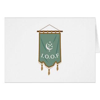 Odd Fellow Moon Banner Card