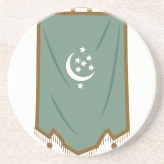 Odd Fellow Moon Banner Coaster