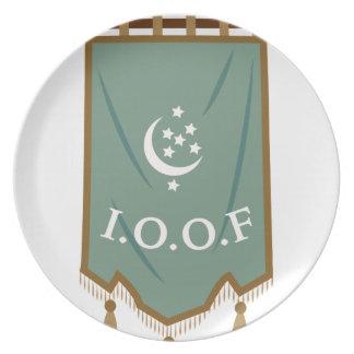 Odd Fellow Moon Banner Dinner Plate