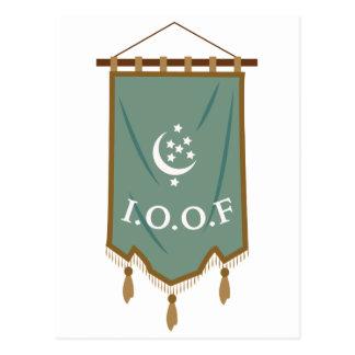 Odd Fellow Moon Banner Postcard