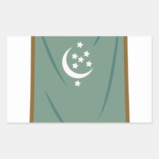 Odd Fellow Moon Banner Rectangular Sticker