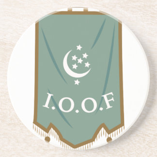 Odd Fellow Moon Banner Sandstone Coaster