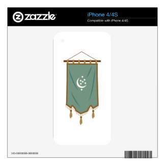 Odd Fellow Moon Banner Skins For iPhone 4