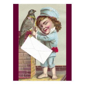 Odd Fellow Sending Pigeon Post Postcard