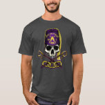 """Odd Fellows Encampment Skull and Crossed Crooks T-Shirt<br><div class=""""desc"""">Designed by Ainslie Heilich.  Skull wearing an Encampment Fez along with Crossed Crooks and Three Links.</div>"""