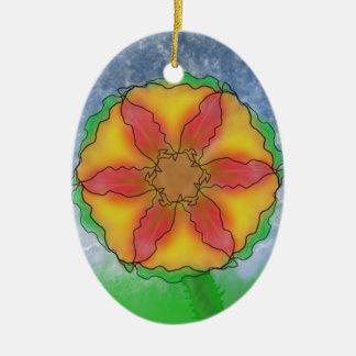 Odd Flower Ceramic Ornament