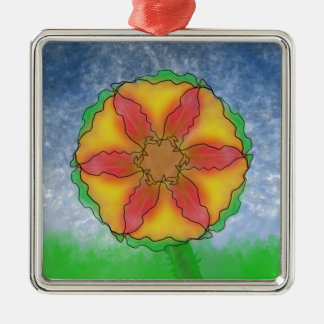 Odd Flower Metal Ornament
