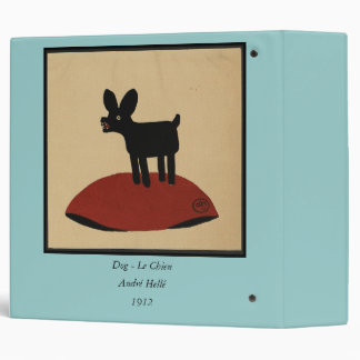 Odd Funny Looking Dog - Colorful Book Illustration 3 Ring Binder